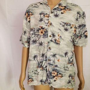Tommy Bahama floral Island Hawaiian shirt large